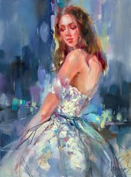 Charm of Spring I by Anna Razumovskaya - Original Painting on Stretched Canvas sized 18x24 inches. Available from Whitewall Galleries